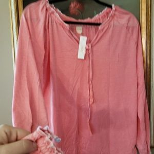 Epic Jag peasant shirt Pink-washed
